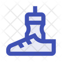Running Water Bottle Running Shoes Icon