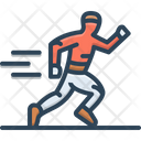 Running Race Man Icon