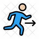 Running Fast Exit Icon