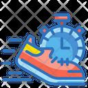 Running Sport Footwear Icon