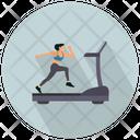 Running On A Treadmil Treadmil Running Icon