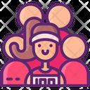 Running Team Female Icon