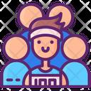Running Team Male Icon