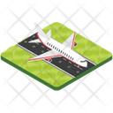 Runway Airfield Airstrip Icon