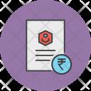 Rupee Banking Document Icon