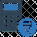 Rupee Badget Calculator Coin Icon