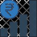 Rupee Graph Earning Graph Money Icon