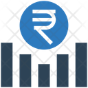Rupee Graph Money Graph Earning Graph Icon