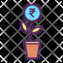 Rupee Growth Icon