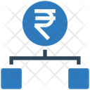 Rupee Hierarchy Structure Connection Icon