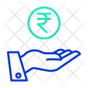 Rupee In Hand Icon