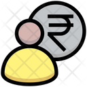 Rupee Manager Finance Manager Banker Icon