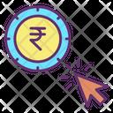 Rupee Pay Per Click Icon