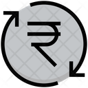 Rupee Process Money Rotation Payment Cycle Icon