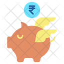 Minvestment Banking Rupees Rupee Savings Piggy Bank Icon