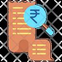 Rupee Search Bill Icon
