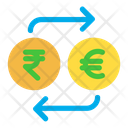 Rupees And Euro Exchange Icon