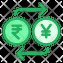 Rupees And Yen Exchange Icon