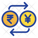 Rupees And Yen Exchange Icon
