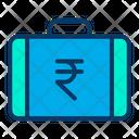 Rupees Briefcase Rupees Suitcase Money Briefcase Icon