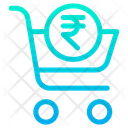 Rupees Cart Shop Icon