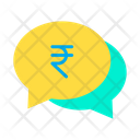 Rupees chat bubble Icon