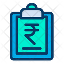 Rupees Clipboard Icon