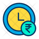 Rupees Clock Icon