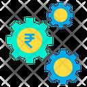 Rupees Cog Rupees Money Mangement Icon