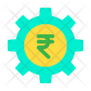 Cog Wheel Rupees Wheel Money Optimization Icon