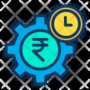 Rupees Setting Rupees Earning Management Cogwheel Icon