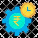 Rupees Cogwheel Icon