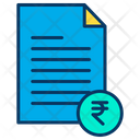Rupees Document Rupees Document Icon