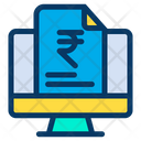 Monitor Rupees Document Finance Document Icon