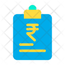 Rupees Finance Papers Document Icon