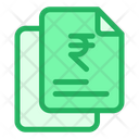 Rupees Finance Document Papers Icon