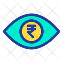 Eye Rupees Money In Eyes Icon