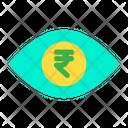 Eye Rupees Money In Eyes Icon