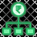 Flowchart Rupees Money Chart Icon