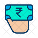 Rupees Note Giving Rupees Donation Icon