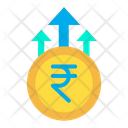 Rupees Growth Business Growth Money Growth Icon