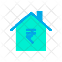 Home House Rupees Symbol Icon
