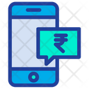 Mobile Chat Rupees Chat Icon