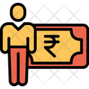 Rupees Earning Cash Icon