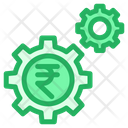 Rupees Finance Finance Setting Icon