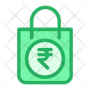 Shopping Bag Rupees Sign Hand Bag Icon