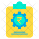 Rupees Strategy Business Management Financial Management Icon