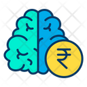 Rupees Think Rupees Brain Brain Icon