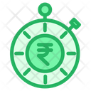 Rupees Time Budget Icon