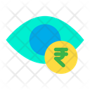 Dollar Eye Eye Rupees Icon